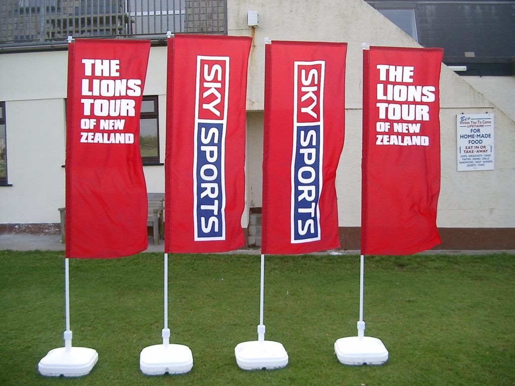 sky sports flags