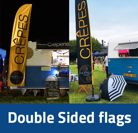 double sided flags