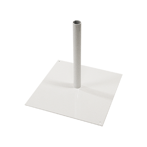 White metal flag base