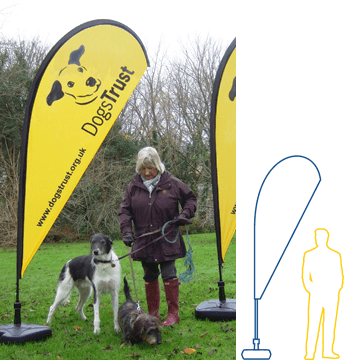 dogs trust teardrop flag