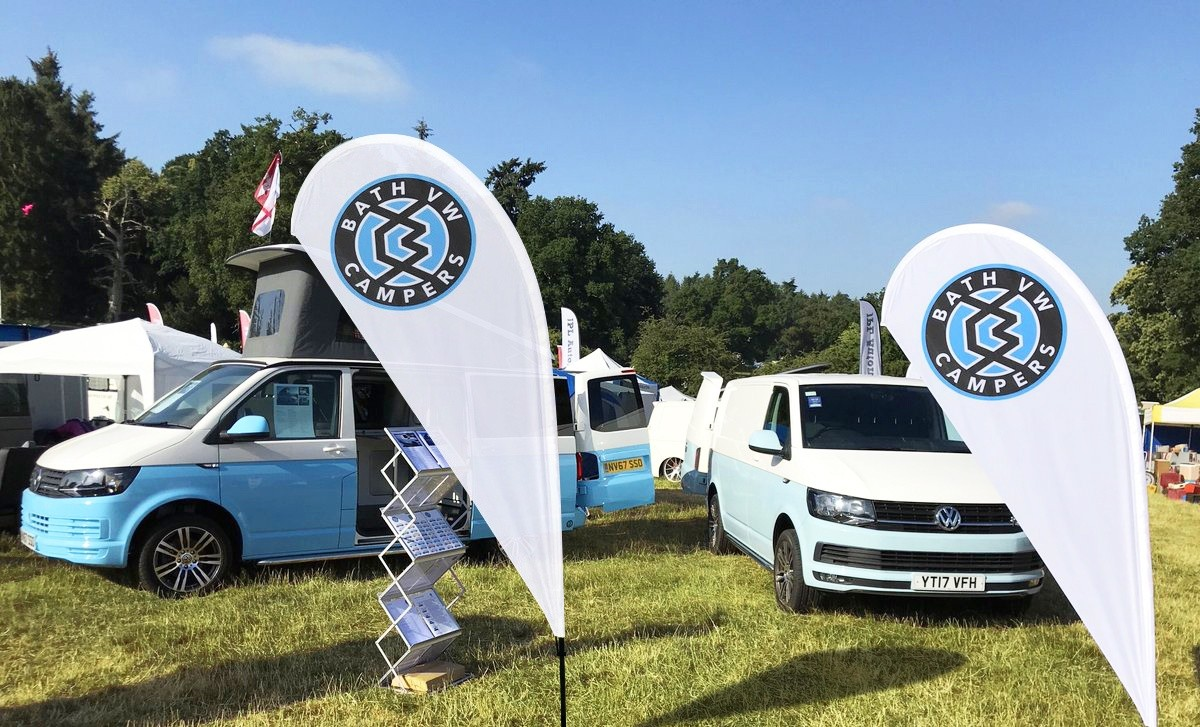 bath vw campers teardrop flag