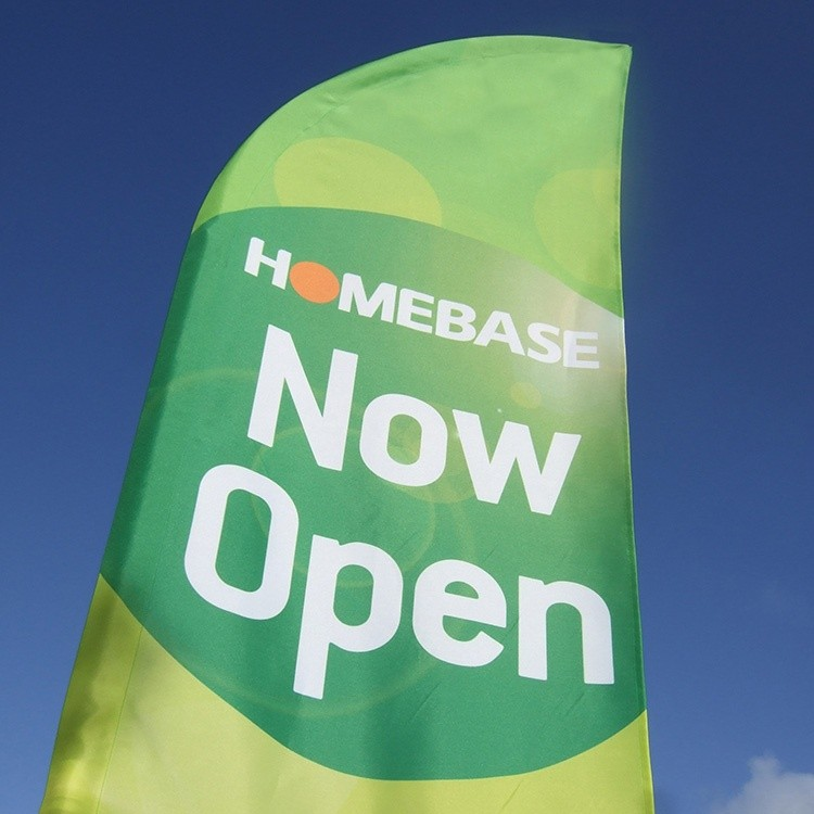 Homebase feather flag