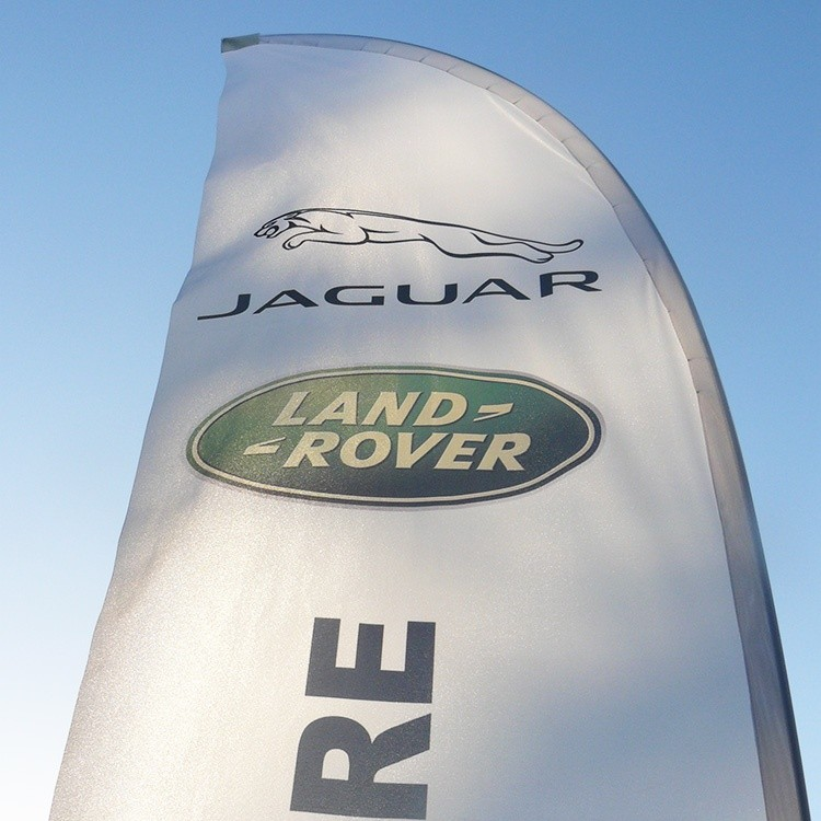 Jaguar feather flags