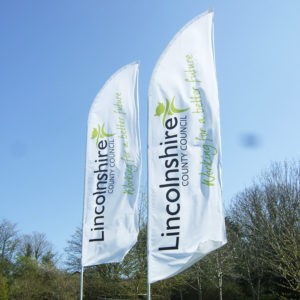 Lincolnshire County Council feather flags
