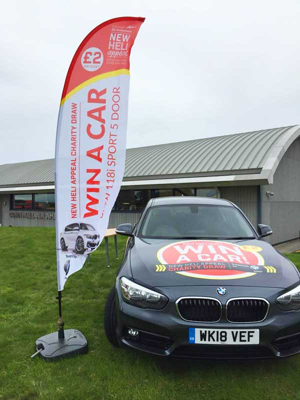 win a car flag