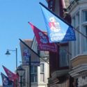 camborne trevithick day trapezoid flags