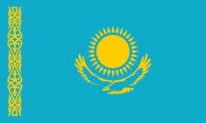flag of kazakhstan