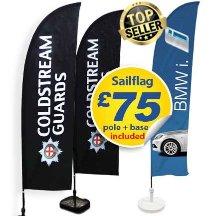 2 sailflags with top seller for long ns