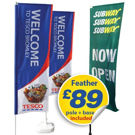 feather flags £89
