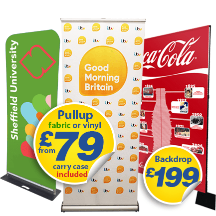 fabric display banners, including tubular, pullup and exhibition display